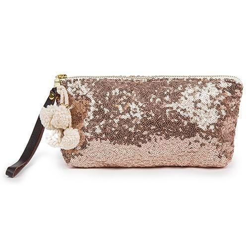 Sequin Wristlet Rose