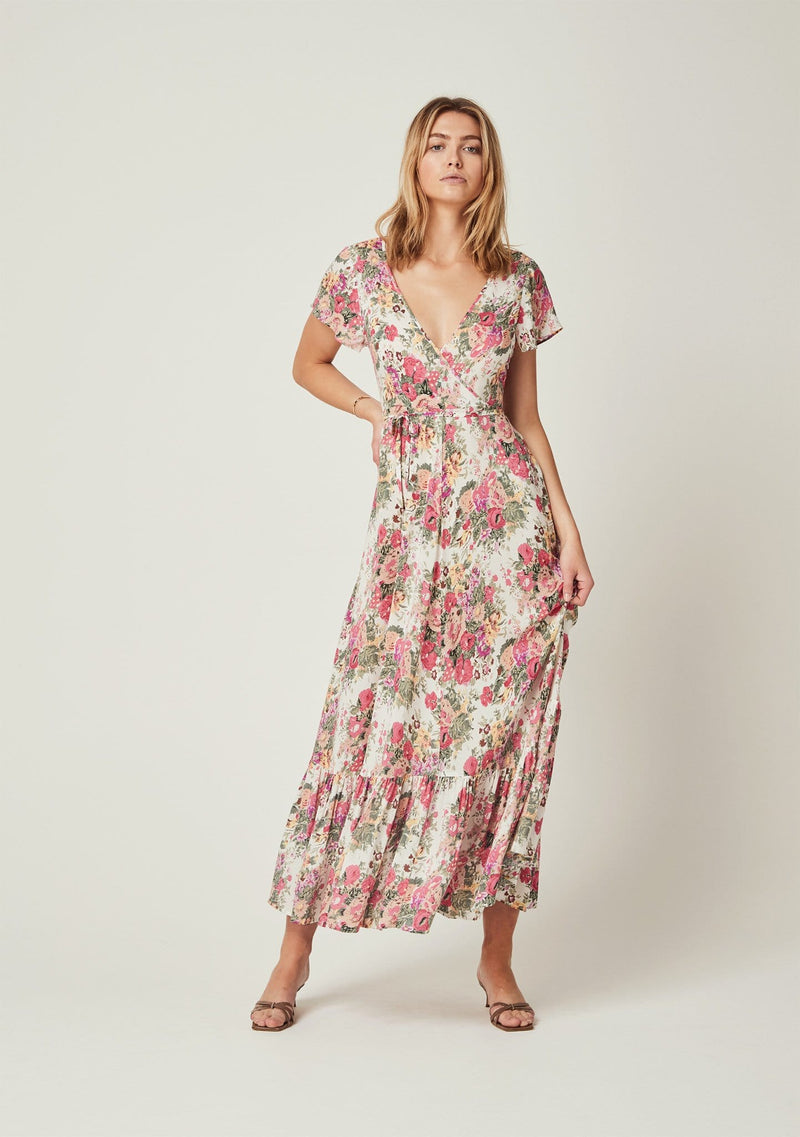 Auguste the Label - Provence Faux Wrap Maxi Dress Natural - Q2202-19666-WH