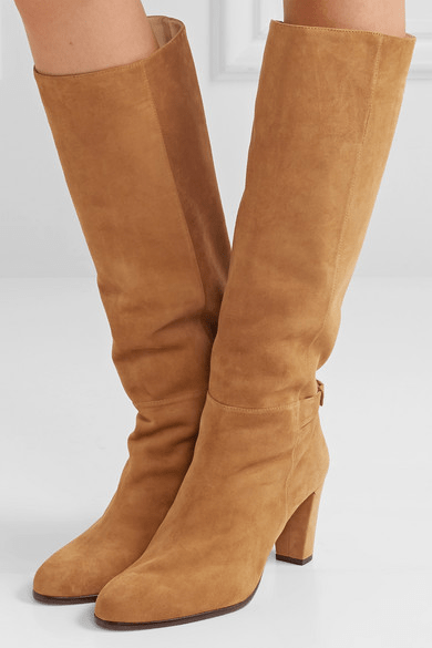Rachel Suede Boots With Bow
