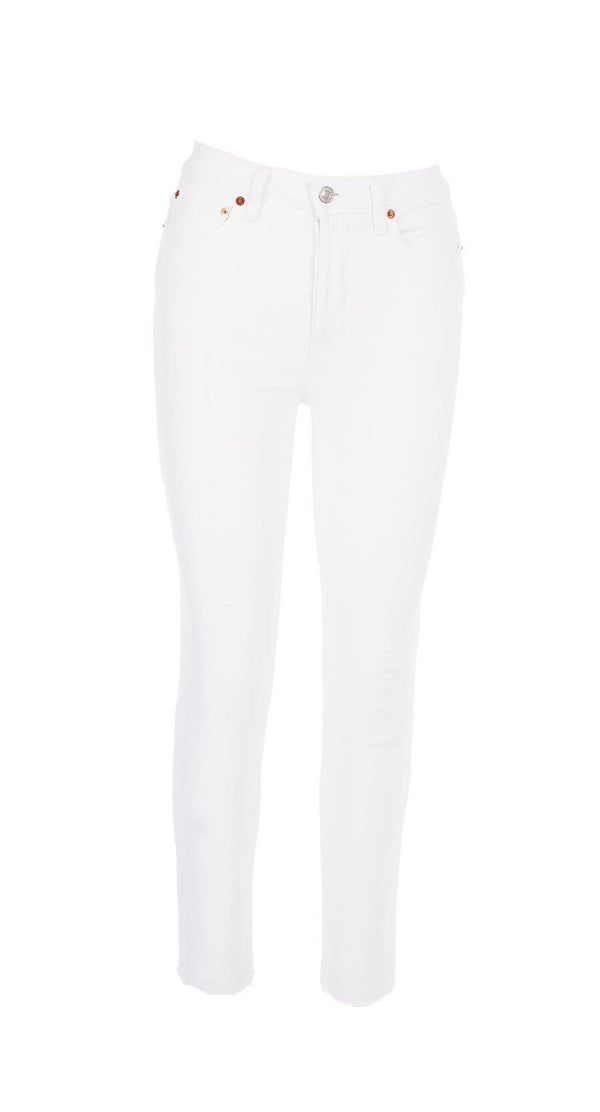 RE/DONE White 90S High Rise Ankle Crop