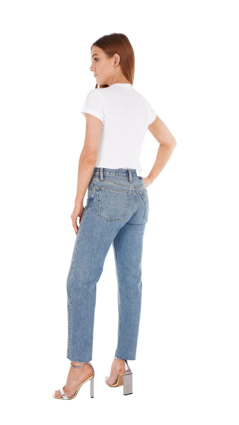 70S Stove Pipe Medium Vain Jeans
