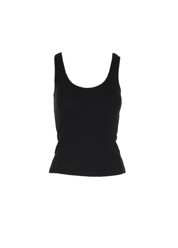 RE/DONE - 90S Ribbed Black Tank