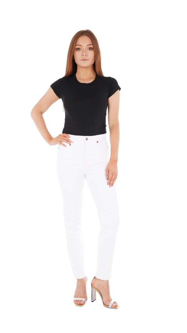 RE/DONE - White 90S High Rise Ankle Crop