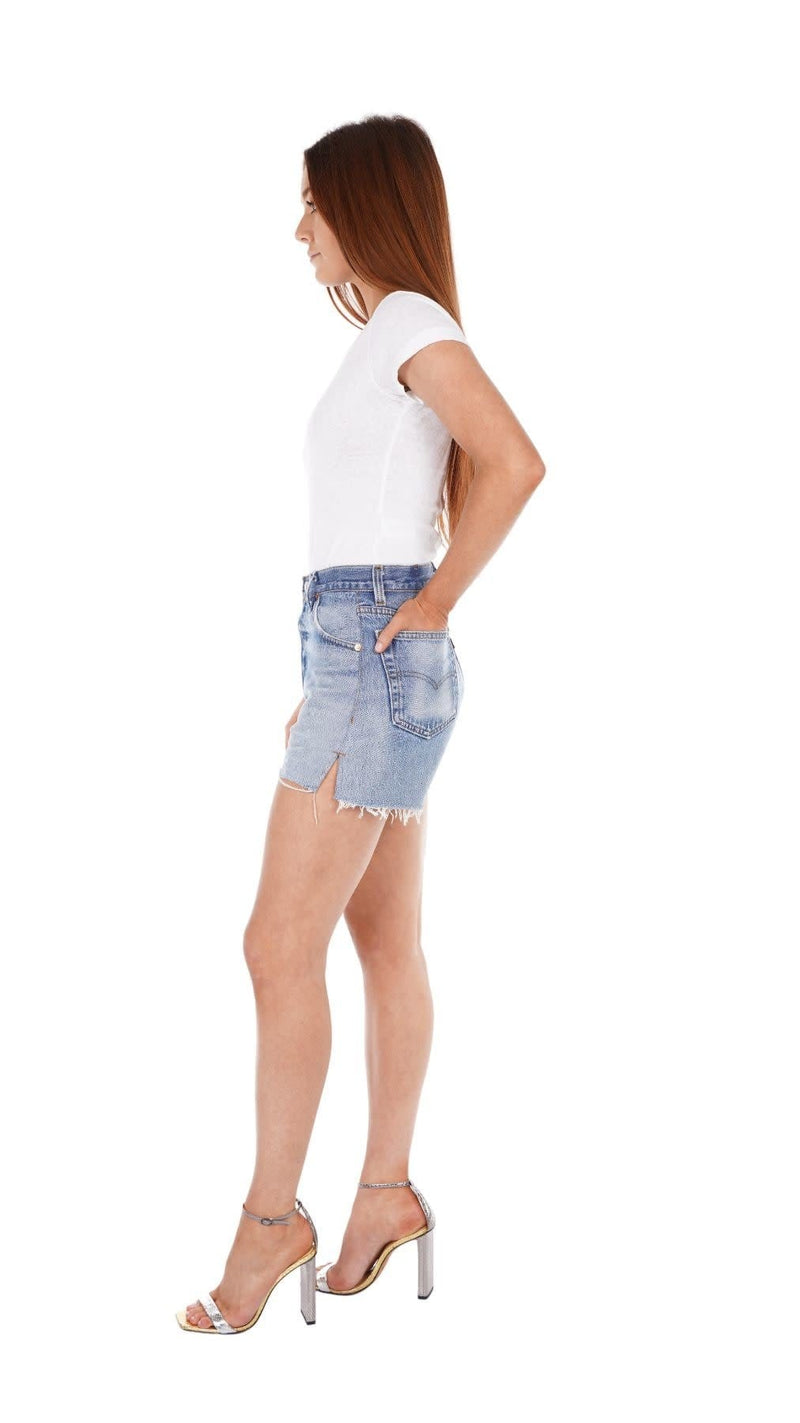 Indigo High Rise Shorts
