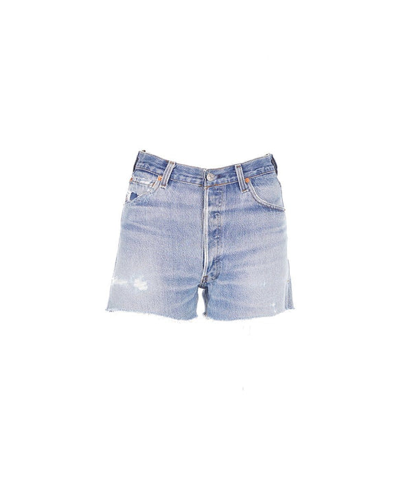 RE/DONE Indigo High Rise Shorts