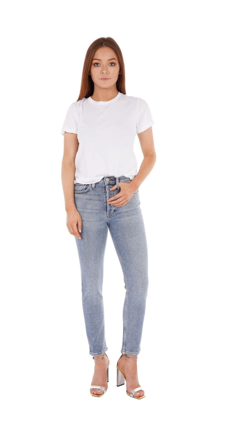 90S High Rise Ankle Crop Mid 90S Jeans