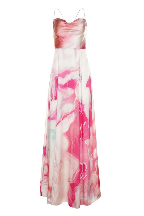 Gracie Marble High Slit Maxi Dress