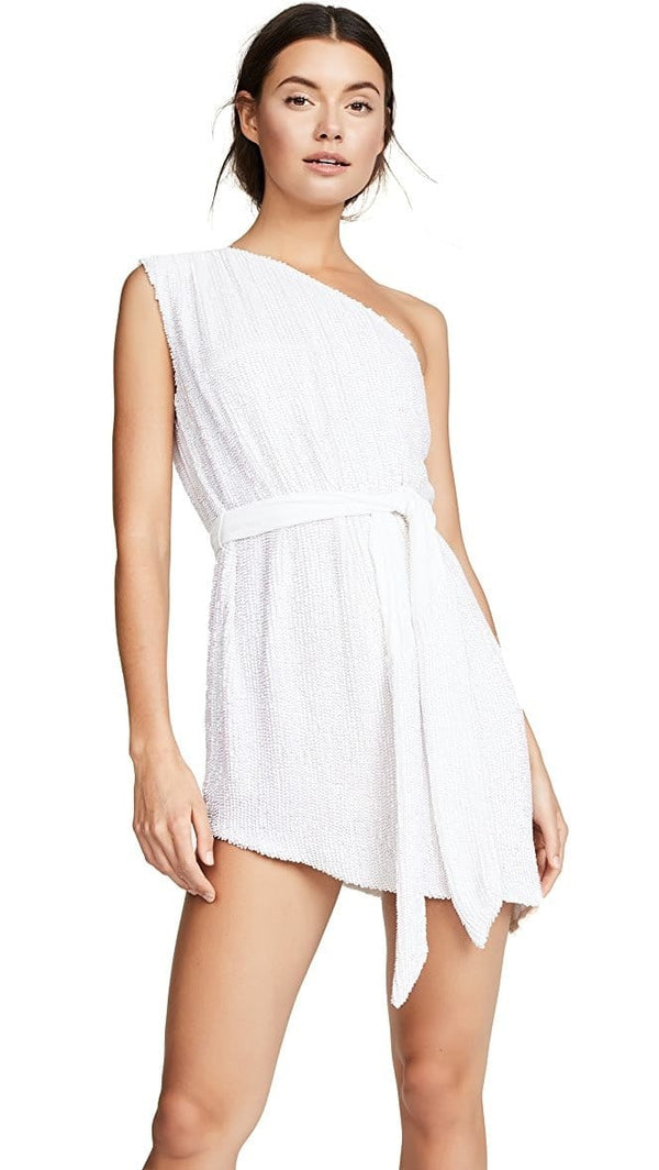 Retrofête - Ella One Shoulder Sequin Mini Dress