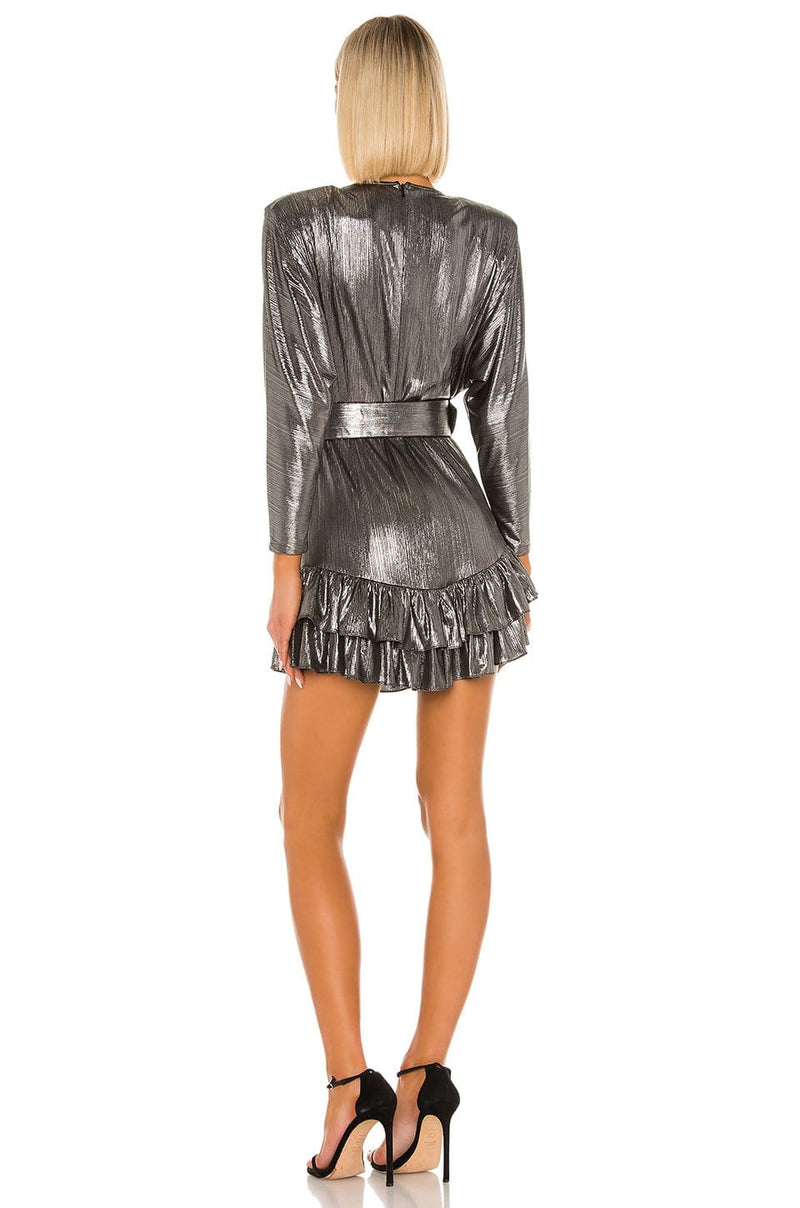 Retrofête Maureen Metallic Mini Dress