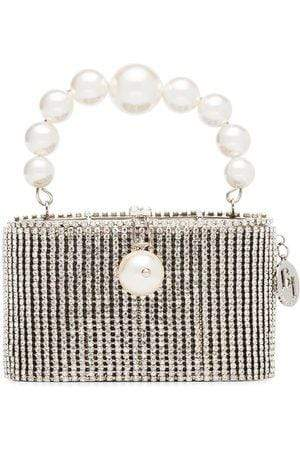 ROSANTICA - Super Holly Mesh Crystal And Pearl Bag