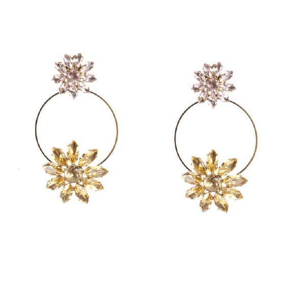 ROSANTICA - Utopia Crystal Flower Earrings