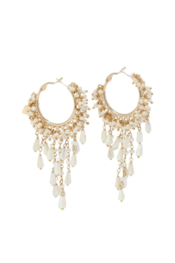 ROSANTICA - Pascoli Gold And Pearl Dangle Earrings