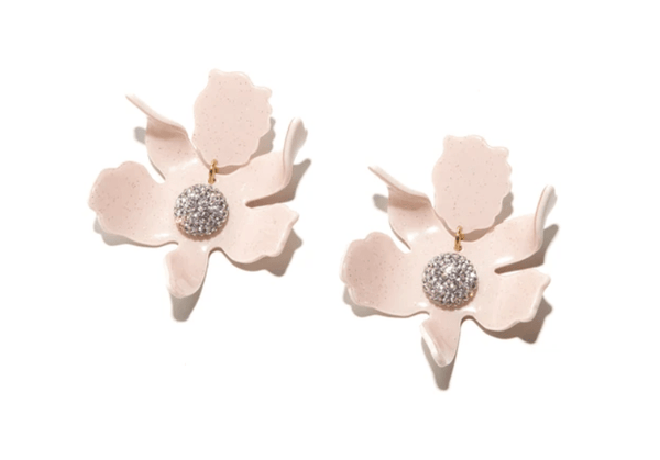 Crystal Lily Pierced Earring