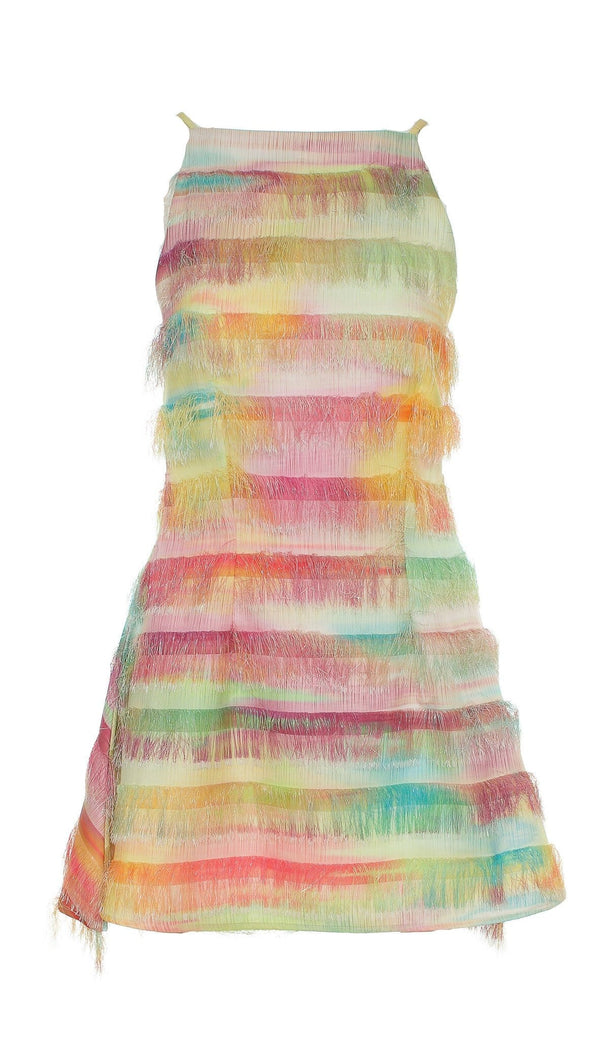 Shannon Tropical Fringe Mini Dress