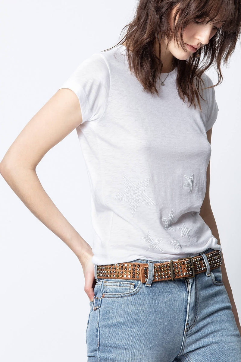 Zadig & Voltaire Skinny Star Studded T-Shirt