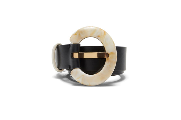 Sofia Belt In Black And Dune