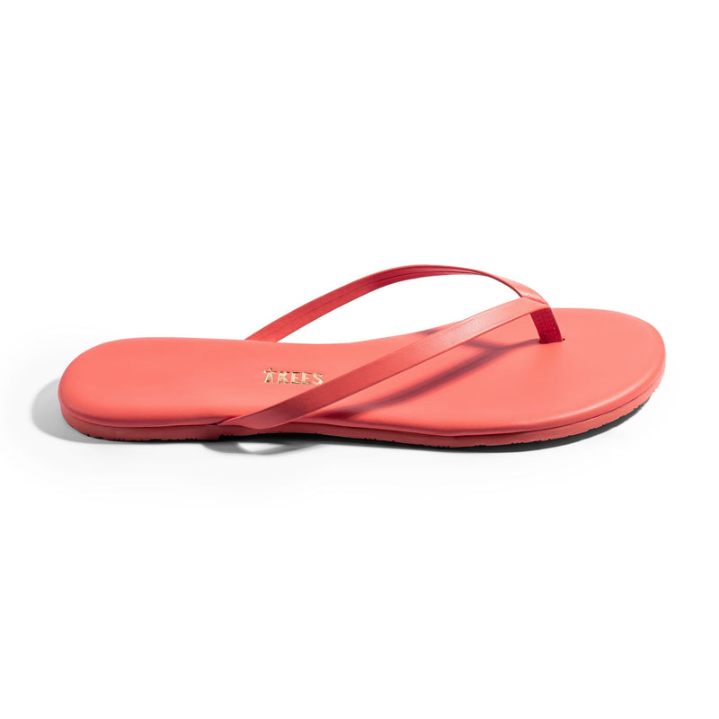 TKEES Bright Coral Thong Sandal