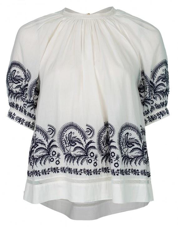 Ulla Johnson Blythe Embroidered Top