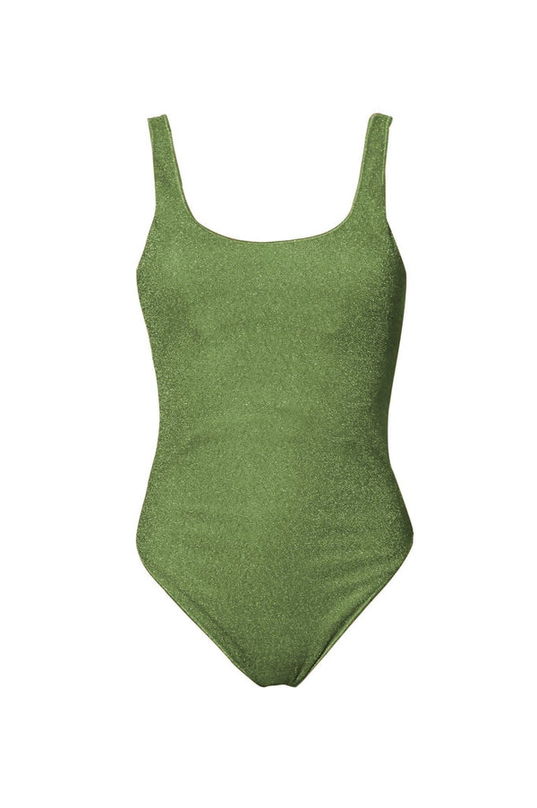 Oséree - Sporty Stretch Lurex One Piece Swimsuit