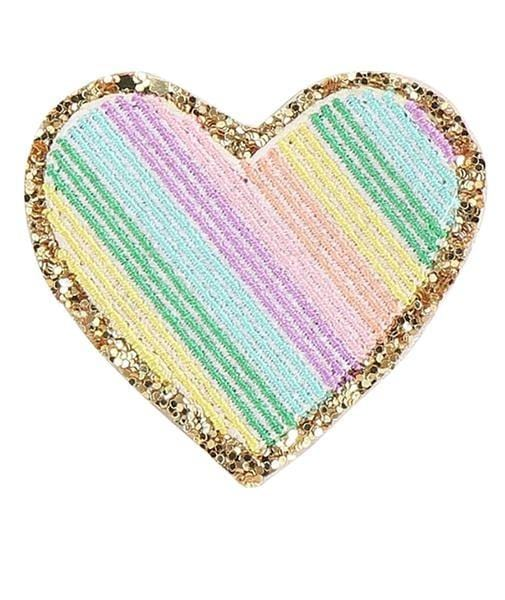 Rainbow Glitter Heart Patch