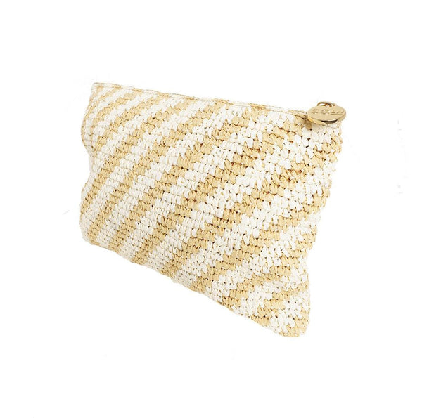 Stoney Clover Lane - Woven Flat Striped Pouch