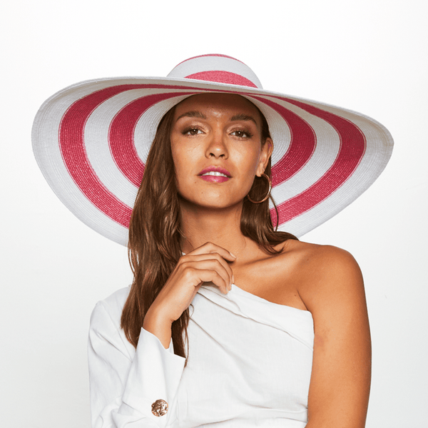 Eugenia Kim Sunny Striped Wide Brim Sun Hat