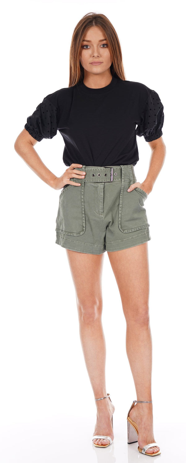 Monterey Fatigue Belted Shorts