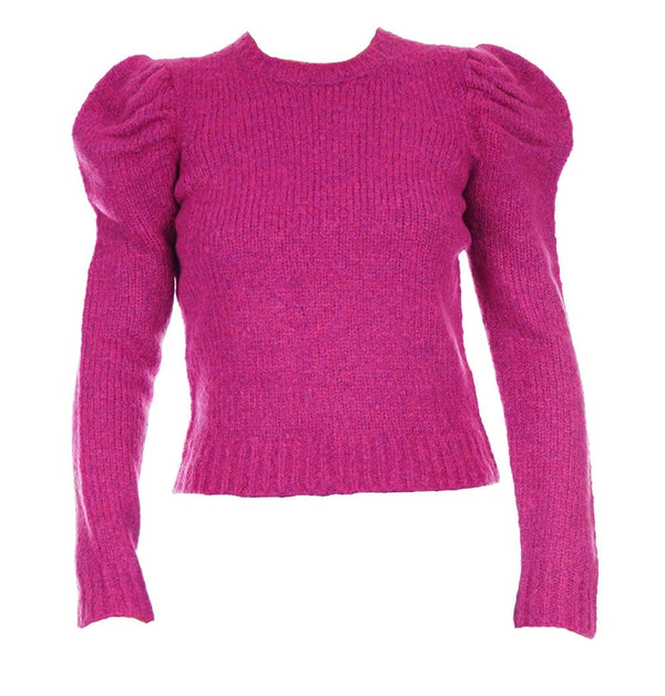 Derek Lam 10 Crosby Locken Fuchsia Puff Sleeve Sweater