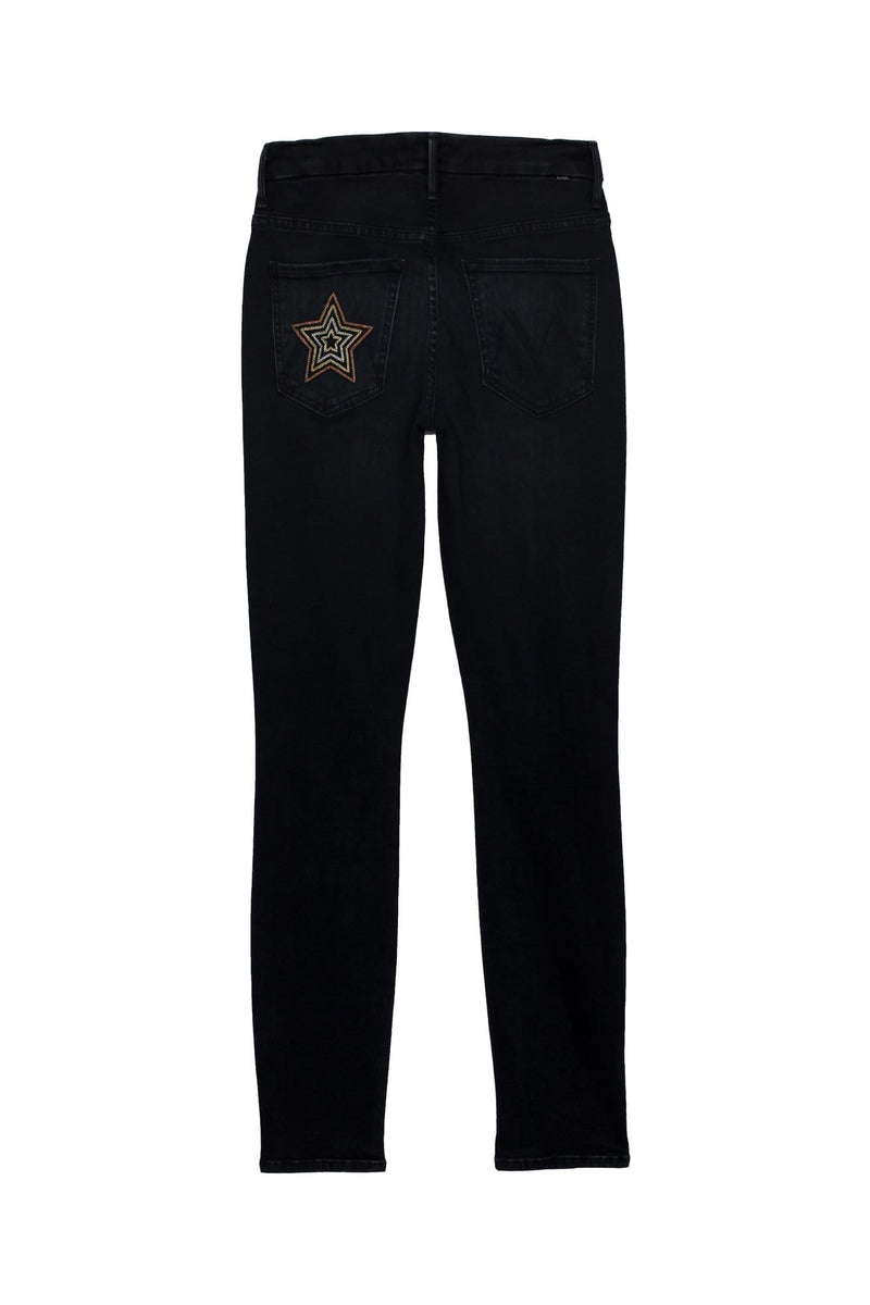 High Waisted Looker Metallic Star