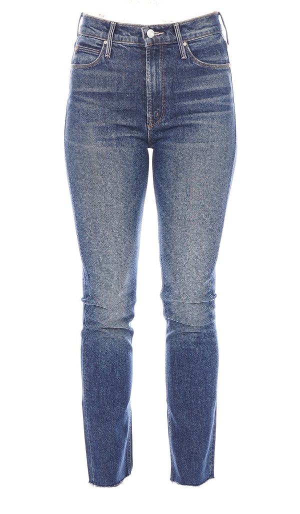 MOTHER Denim The Dazzler Painfully Obvious Ankle Fray Jeans