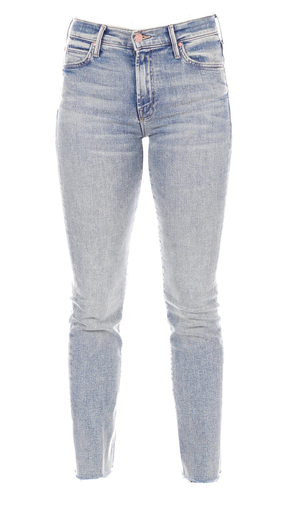 MOTHER Denim - The Rascal Bonfire Lighting Ankle Fray Jeans