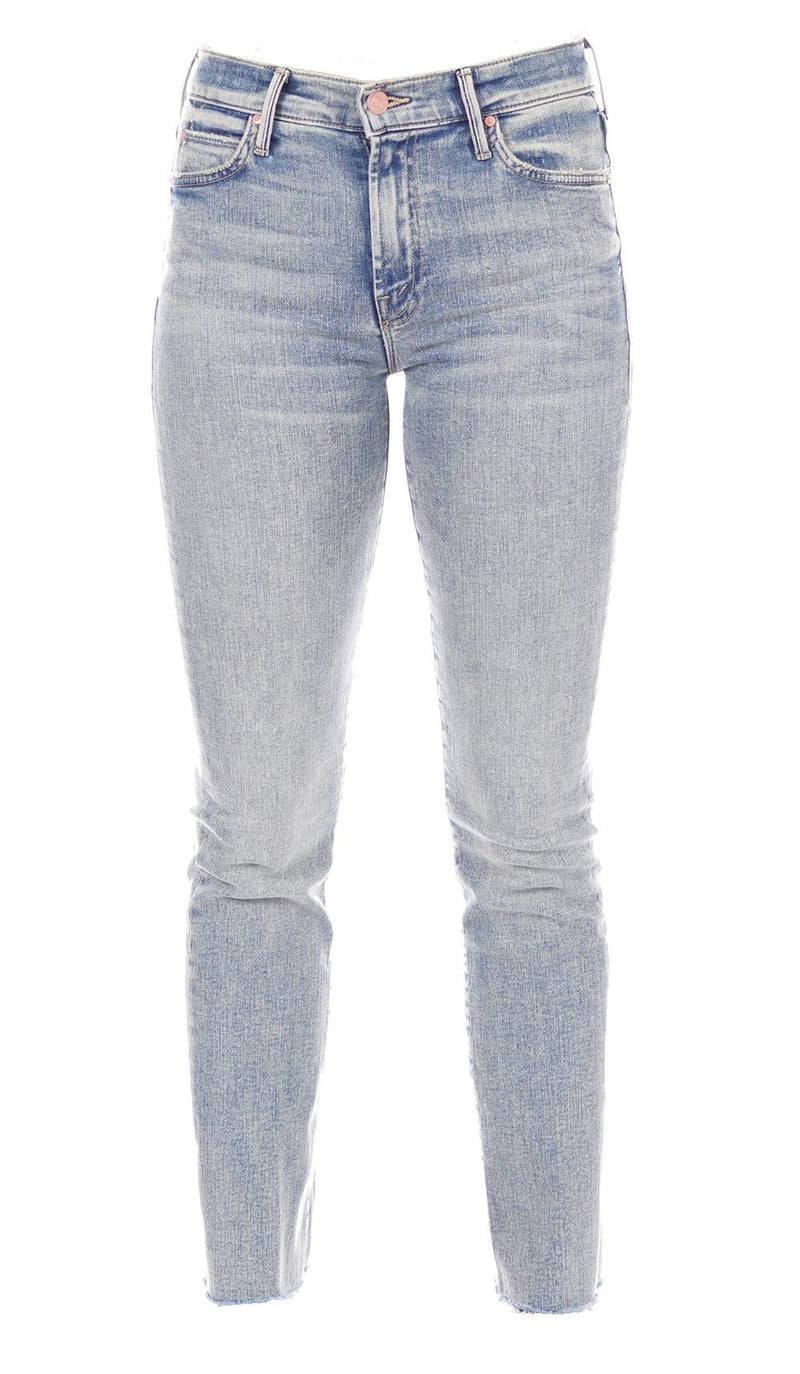 MOTHER Denim The Rascal Bonfire Lighting Ankle Fray Jeans