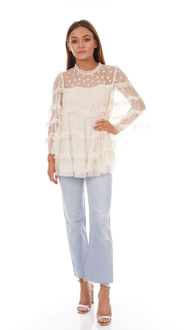 Needle & Thread - Patchwork Lace Top
