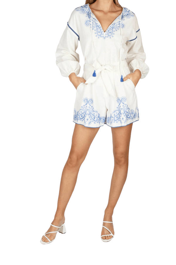 Tigerlily - Azid Embroidered Flare Short