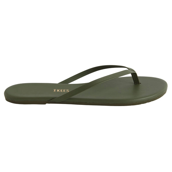TKEES Olive Green Thong Sandal