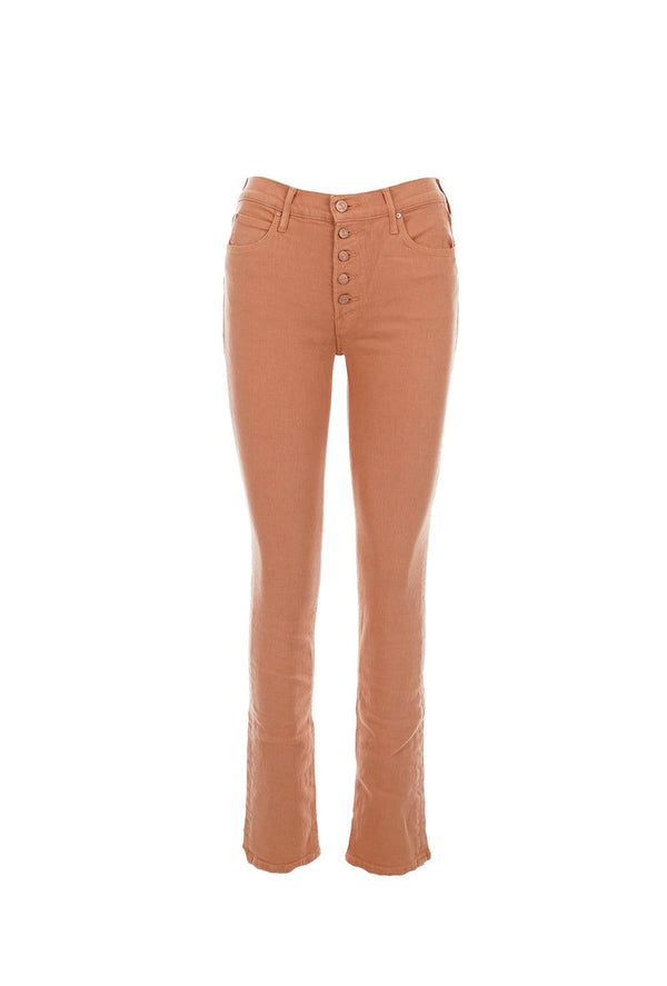 MOTHER Denim - The Pixie Dazzler Sneak Jeans Toasted Nut