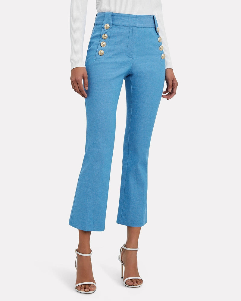 Derek Lam 10 Crosby - Robertson Cropped Flared Trouser With Sailor Buttons