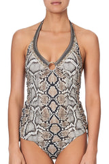 U Ring Ruched Halter Tank