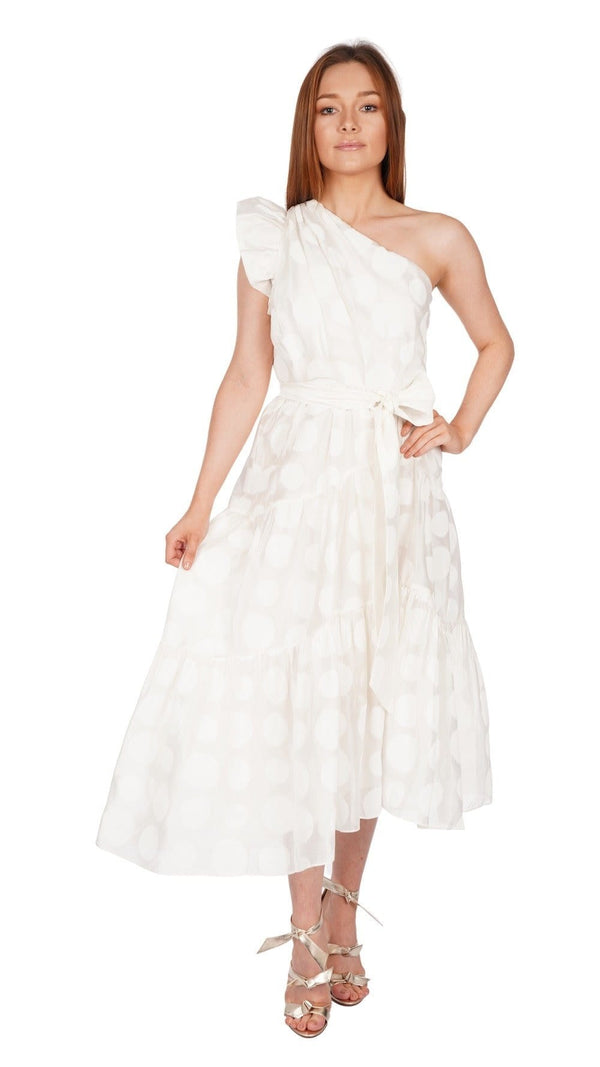 Ariane One Shoulder Organza Dress