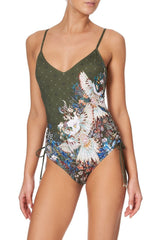 Ruched Side One Piece Swimsuit