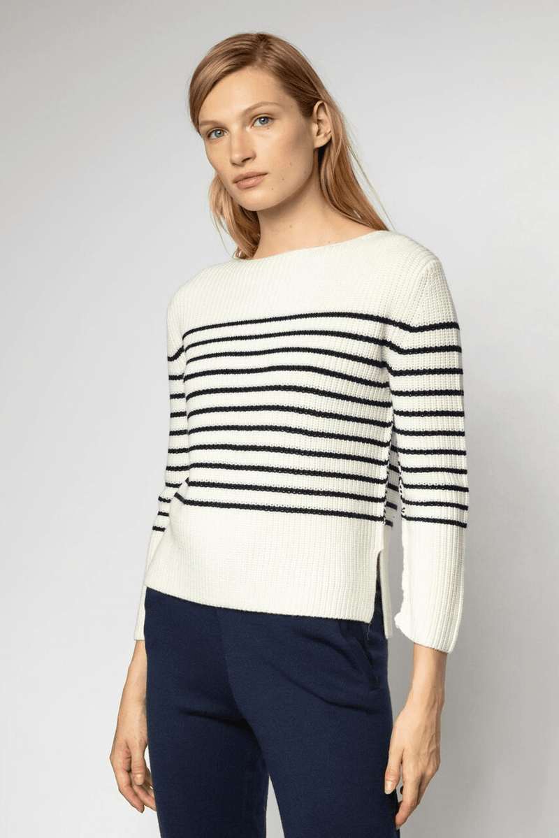 Wool Blend Boatneck Sweater