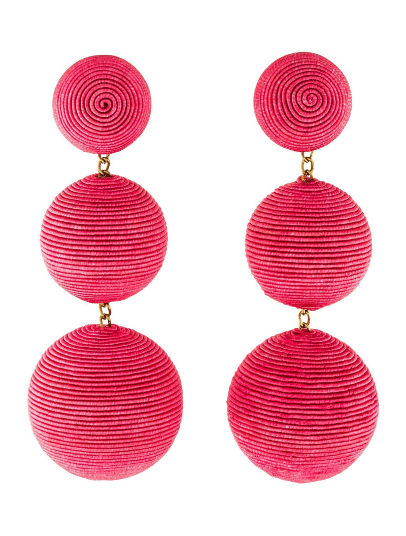 REBECCA DE RAVENEL Classic Mamacita 3 Drop Bon Bon Earrings