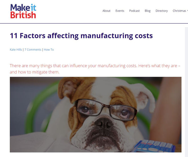 11 Factors affecting manufacturing costs