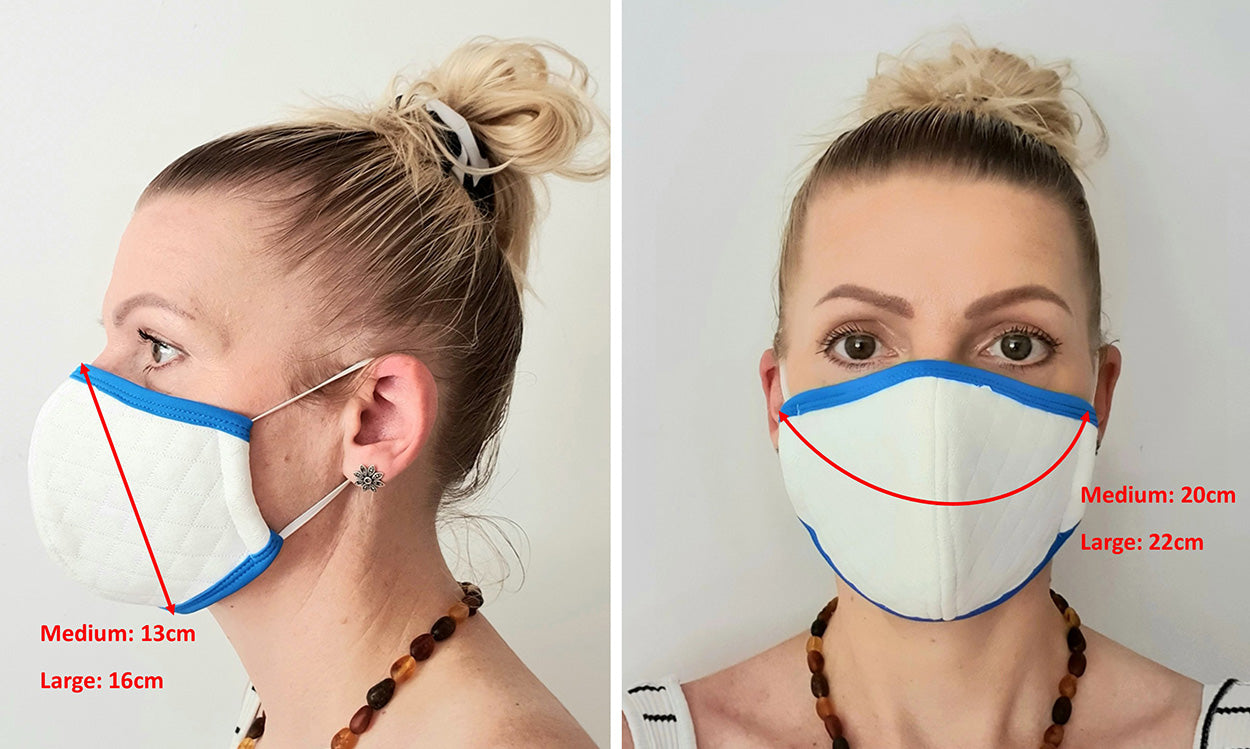 Antimicrobial Filter Mask Size Guide