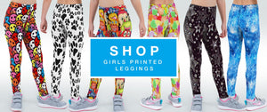 Printed Girls Leggings Shop by Halcyon Blue