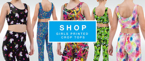 Printed Girls Crop Tops Shop by Halcyon Blue