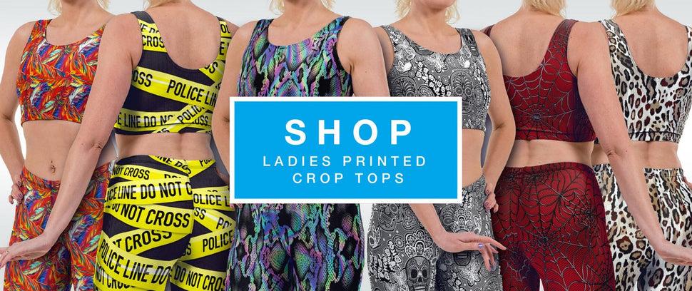 Printed Ladies Crop Tops Shop by Halcyon Blue