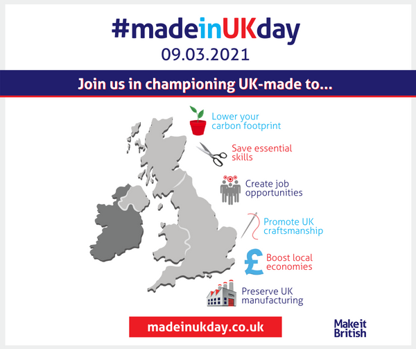 MADE IN UK DAY 09 MARCH 2021