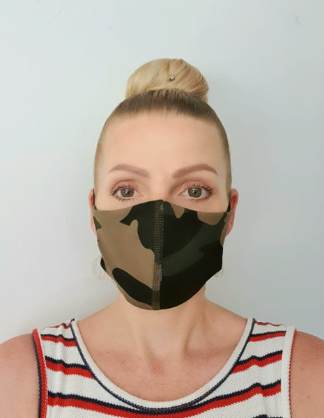 Camouflage Antimicrobial Face Mask - Washable & Reusable