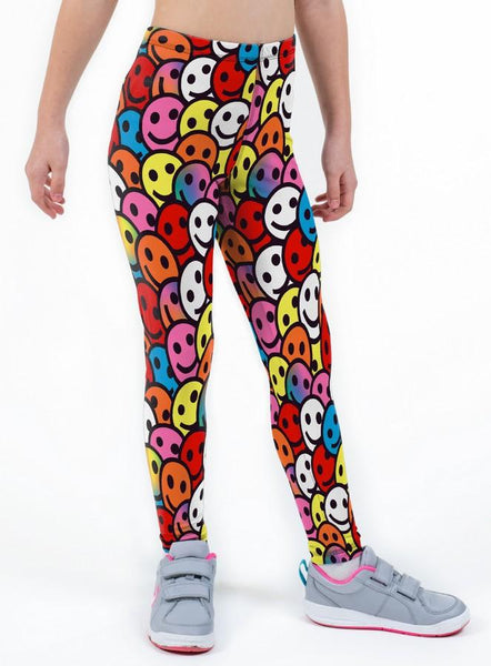 Smiler Print Lycra Girls Leggings